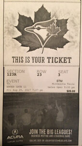 Two Toronto Blue Jay Tickets for this Friday.