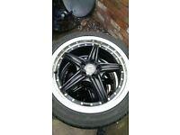 5x100 17 alloys with tyres.audi,seat,skoda,vW