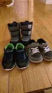 Size 5 toddler boots and sneakers