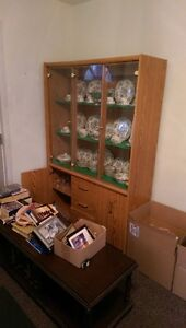 China Cabinet with matching curio cabinet