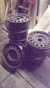 Two sets of steel rims - 15 inch 4x114.3