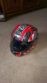 Roemer L MANDALA Full Face Motorcycle Helmet - Black/ Red