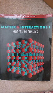Matter and Interactions I Modern Mechanics 3rd edition