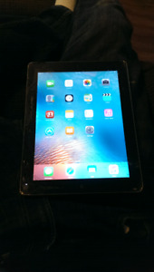 IPad works but cracked screen.