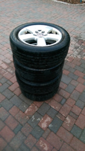 VW jetta rims and michelin tires