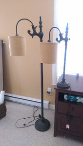 A Stand light and a side table light