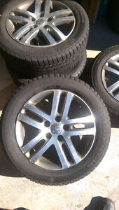 4 VW Alloy Rims And Continental Winter Tires(P205 55 R16)