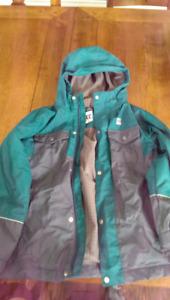 MEC kids spring / fall jacket - size 6, grey / green