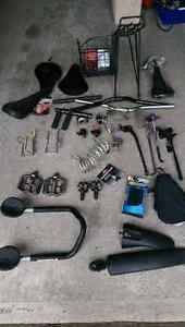 Bike accessories (some items are sold)