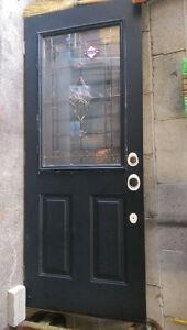 """32"""" Exterior door (solid wood with glass insert)"""