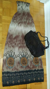 Rob Long brown dress+Brown Aldo bag