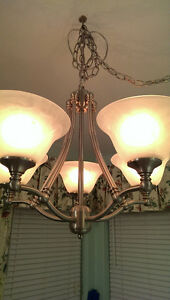 Brushed silver 5 light chandelier/ceiling light Sarnia Sarnia Area image 2