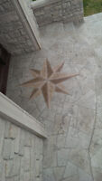 Beautiful decoractive concrete overlays