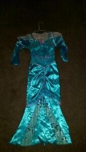 Mermaid halloween costume turquoise aqua colour size 4-6