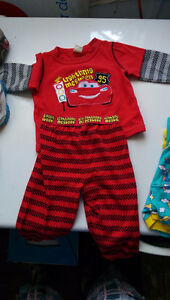 Two pairs of pajamas, size 6-12 months