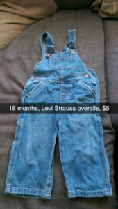 18 month Levi Strauss overalls $5