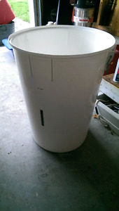 Giant white bucket