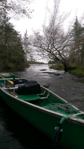 Coleman flat back canoe and accessories