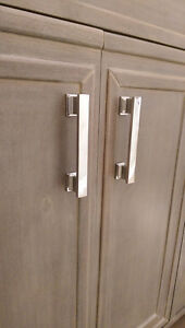Chrome cabinet pulls -  new