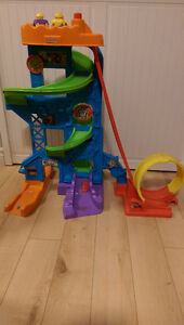 Fisher price little people amusement car track