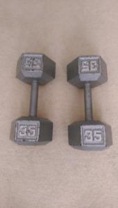 35 pound weights