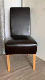4X Leather High Back Dining Chairs each £35