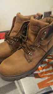 Steel toe work shoes/boots