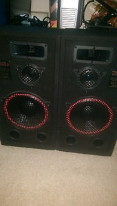TIME TO GET WIRED !!!!SET OF VERY POWERFUL 3 WAY SPEAKERS