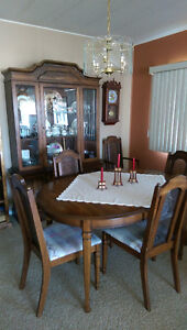 8-piece wooden dining room set