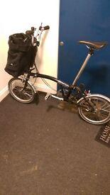 3 speed Black Brompton folding bike £550