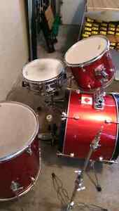 Supra 4 piece with cymbal and hihat Cambridge Kitchener Area image 3