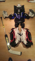 Ice Hockey Goalie equipment /Gardien de But : Novice/Atome 24+1