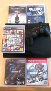 PS3 Super Slim 500gb + games