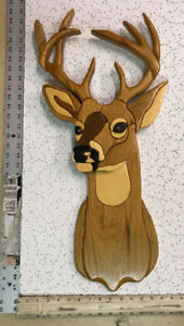Wooden wall hanging (intarsia)