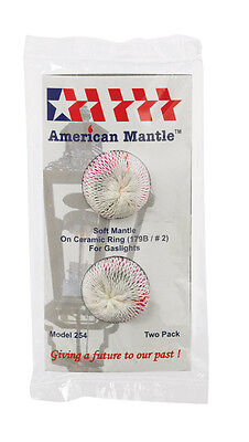 AMERICAN MANTLE  GASLIGHT MANTLE  Soft inverted No. 2