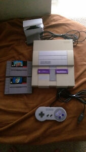 Super Nintendo and two awesome games