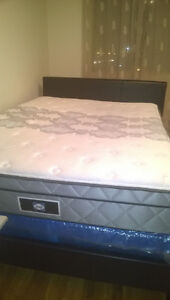 Queen size bed and sealy mattress