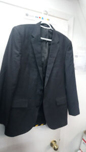 ALFANI Red Label Slim Fit Navy Blue Solid 2-Button Sportcoat 42R