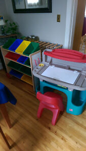 Toy rack and Desk