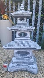Stone Concrete Three Tier Pagoda