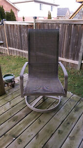 Patio Set - 1 table with 4 chairs, 1 recliner, 2 rotating chairs Kitchener / Waterloo Kitchener Area image 6