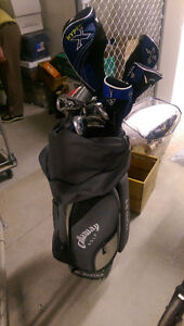 His and hers Callaway big bertha golf clubs with bags