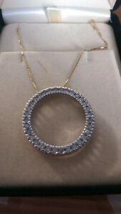 INFINITE CIRCLE DIAMOND NECLACE