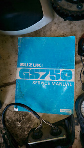 Suzuki gs 750 parts and manual
