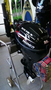 9.9 Four stroke outboard new with tank was $2850 now $2150
