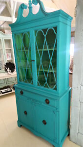 DISPLAY CABINET, REFINISHED, FOR SALE AT THE PIGGERY GALLERY