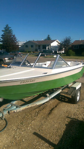 16' boat and trailer for sale