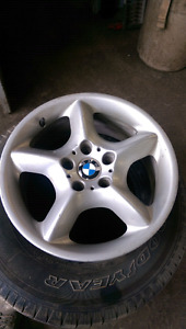BMW 17 inch five bolt rims