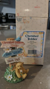 Cherished Teddies Town Tattler Signage