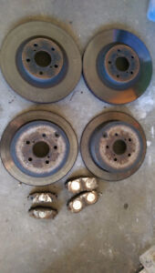 2009 Wrx Brake Calipers, Rotors and Pads (85% life left